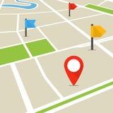 Αφηρημένος χάρτης πόλεων στην προοπτική Στοκ φωτογραφίες με δικαίωμα ελεύθερης χρήσης