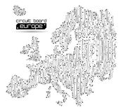 αφηρημένος χάρτης της Ευρώ&pi διανυσματική απεικόνιση