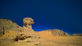 Αφηρημένος χοίρος ή σκαντζόχοιρος aka σχηματισμού βράχου σε Tamezguida, εθνικό πάρκο Tassili nAjjer, Αλγερία Στοκ εικόνα με δικαίωμα ελεύθερης χρήσης