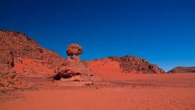 Αφηρημένος χοίρος ή σκαντζόχοιρος aka σχηματισμού βράχου σε Tamezguida, εθνικό πάρκο Tassili nAjjer, Αλγερία Στοκ Εικόνα