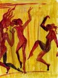 αφηρημένος χορός Διανυσματική απεικόνιση