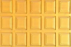 αφηρημένος χρυσός τοίχος ανασκόπησης Στοκ Εικόνα
