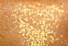 Αφηρημένος χρυσός bokeh Στοκ εικόνα με δικαίωμα ελεύθερης χρήσης