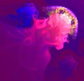 Αφηρημένος ψεκασμός που μοιάζει με ένα κοπάδι της κόκκινης μέδουσας Στοκ Εικόνα
