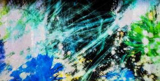 Αφηρημένος ψηφιακός γραφικός με το ακατάστατο φως γραμμών Στοκ Φωτογραφία