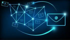 Αφηρημένος ψηφιακός κόσμος επικοινωνιών μάρκετινγκ ηλεκτρονικού ταχυδρομείου Στοκ Εικόνα