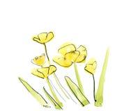 αφηρημένος floral ανασκόπησης π&o Στοκ φωτογραφία με δικαίωμα ελεύθερης χρήσης