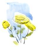 αφηρημένος floral ανασκόπησης π&o Στοκ Φωτογραφία