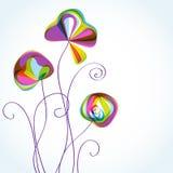 αφηρημένος floral πολύχρωμος α& ελεύθερη απεικόνιση δικαιώματος