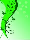 αφηρημένος floral πράσινος ανασ ελεύθερη απεικόνιση δικαιώματος