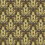 αφηρημένος floral χρυσός άνευ ρ&alp Στοκ εικόνες με δικαίωμα ελεύθερης χρήσης
