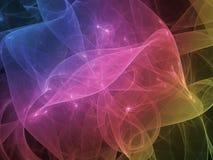 αφηρημένος fractal σύγχρονος, σκοτεινός, υπερφυσικός δημιουργικός δυναμικός υποβάθρου διανυσματική απεικόνιση