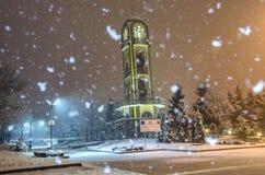 αφηρημένος fractal χειμώνας νύχτας εικόνας Στοκ Εικόνες