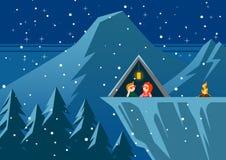 αφηρημένος fractal χειμώνας νύχτας εικόνας Στοκ Φωτογραφίες