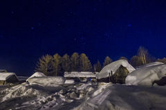 αφηρημένος fractal χειμώνας νύχτας εικόνας Στοκ εικόνες με δικαίωμα ελεύθερης χρήσης