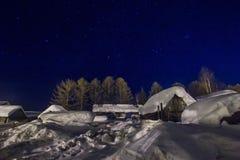 αφηρημένος fractal χειμώνας νύχτας εικόνας Στοκ φωτογραφία με δικαίωμα ελεύθερης χρήσης