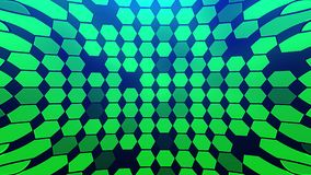 Αφηρημένος Hexagon γεωμετρικός βρόχος επιφάνειας ελεύθερη απεικόνιση δικαιώματος