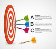 Αφηρημένος infographic στόχος προτύπων με τα βέλη ελεύθερη απεικόνιση δικαιώματος