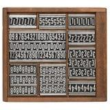αφηρημένος letterpress τύπος αριθμ&omicro Στοκ Εικόνα