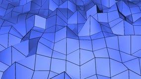 Αφηρημένος polygonal γεωμετρικός βρόχος επιφάνειας 4K ψήφισμα ανασκόπηση ψηφιακή ελεύθερη απεικόνιση δικαιώματος