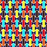 Αφηρημένο άνευ ραφής γεωμετρικό σχεδίων σχέδιο υποβάθρου κεραμιδιών διανυσματικό με τις ζωηρόχρωμες μορφές Στοκ Εικόνες