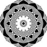 Αφηρημένο άνευ ραφής διακοσμητικό γεωμετρικό ελαφρύ μαύρο & άσπρο υπόβαθρο σχεδίων στοκ φωτογραφία με δικαίωμα ελεύθερης χρήσης