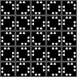 Αφηρημένο άνευ ραφής διακοσμητικό γεωμετρικό ελαφρύ μαύρο & άσπρο υπόβαθρο σχεδίων στοκ φωτογραφίες