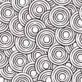 αφηρημένο άνευ ραφής διάνυσμα προτύπων σχεδίου κύκλων Στοκ εικόνα με δικαίωμα ελεύθερης χρήσης