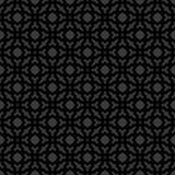 Αφηρημένο άνευ ραφής διακοσμητικό γεωμετρικό μαύρο & γκρίζο υπόβαθρο σχεδίων Στοκ Εικόνα