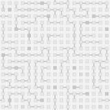 Αφηρημένο άνευ ραφής διανυσματικό μονοχρωματικό σχέδιο λαβύρινθων κυκλωμάτων - Στοκ φωτογραφία με δικαίωμα ελεύθερης χρήσης