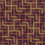 Αφηρημένο άνευ ραφής διανυσματικό σχέδιο της διατομής της τετραγωνικής διακόσμησης Στοκ Φωτογραφία