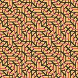 Αφηρημένο άνευ ραφής διανυσματικό σχέδιο της διατομής του διαγώνιου orname Στοκ Εικόνα