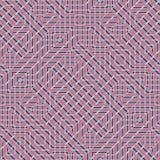 Αφηρημένο άνευ ραφής διανυσματικό σχέδιο της διατομής του διαγώνιου orname Στοκ Φωτογραφίες