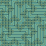 Αφηρημένο άνευ ραφής διανυσματικό σχέδιο της διατομής των τετραγωνικών διακοσμήσεων Στοκ Φωτογραφία