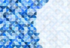 Αφηρημένο άνευ ραφής λαμπρό μπλε υπόβαθρο σχεδίων κύκλων και τετραγώνων διανυσματική απεικόνιση