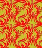 Αφηρημένο άνευ ραφής οργανικό σχέδιο επίσης corel σύρετε το διάνυσμα απεικόνισης Στοκ Εικόνες