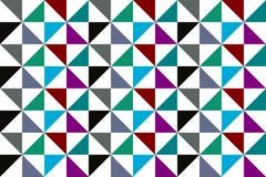 Αφηρημένο άνευ ραφής πολύχρωμο σχέδιο τριγώνων Στοκ Φωτογραφία