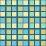 Αφηρημένο άνευ ραφής πρότυπο με τα τετράγωνα Γεωμετρικό διάνυσμα illustr Στοκ Εικόνα