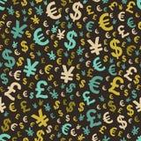 Αφηρημένο άνευ ραφής πρότυπο με τα χρήματα ελεύθερη απεικόνιση δικαιώματος
