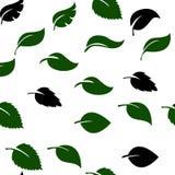 Αφηρημένο άνευ ραφής σχέδιο με τα μειωμένα φύλλα floral απλός ανασκόπησης Στοκ Εικόνα