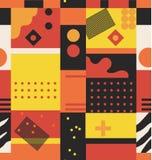 Αφηρημένο άνευ ραφής σχέδιο σχεδίων με τις γεωμετρικές και φυσικές κυρτές μορφές διανυσματική απεικόνιση