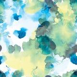 Αφηρημένο άνευ ραφής σχέδιο των λεκέδων watercolor στο άσπρο backgroung Στοκ Εικόνα