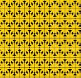 Αφηρημένο άνευ ραφής σχέδιο αντίθεσης με τα κίτρινα βέλη Διάνυσμα wa Στοκ Φωτογραφίες