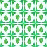 Αφηρημένο άνευ ραφής σχέδιο γεωμετρίας με τα φύλλα Στοκ Φωτογραφίες