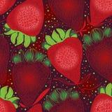 Αφηρημένο άνευ ραφής σχέδιο γραμμών φραουλών απεικόνιση αποθεμάτων