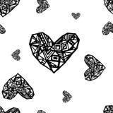 Αφηρημένο άνευ ραφής σχέδιο καρδιών Στοκ φωτογραφία με δικαίωμα ελεύθερης χρήσης