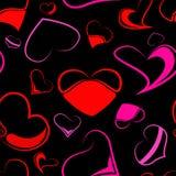 Αφηρημένο άνευ ραφής σχέδιο καρδιών Στοκ Εικόνες