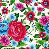 Αφηρημένο άνευ ραφής σχέδιο κομψότητας με το floral υπόβαθρο Στοκ Φωτογραφία