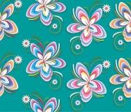 Αφηρημένο άνευ ραφής σχέδιο κομψότητας με το floral υπόβαθρο Στοκ Εικόνες
