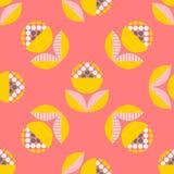 Αφηρημένο άνευ ραφής σχέδιο με τα floral στοιχεία Στοκ εικόνα με δικαίωμα ελεύθερης χρήσης